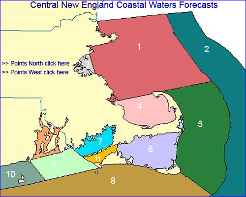 Eastern Massachusetts coastal waters forecast